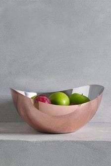 Porta frutta effetto rosa oro