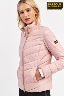 Barbour® International Blusher Pink Auburn Padded Jacket