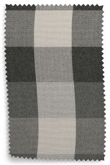 Tweedy Check Gingham Charcoal Fabric By The Roll