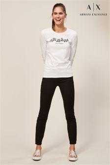 Armani Exchange Black J01 Skinny Jean