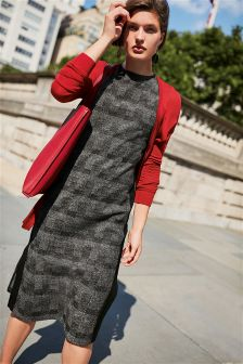 Check Jacquard Dress