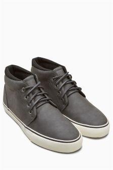 Ботинки средней высоты с искусственным мехом