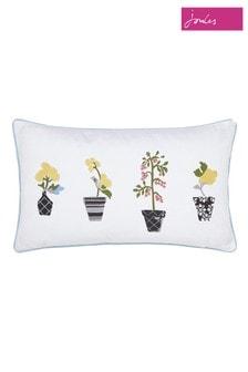 Joules Garden Flowers Cotton Cushion