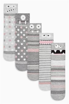 Monster Ankle Socks Five Pack