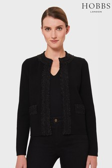 Hobbs Black Frankie Knitted Jacket