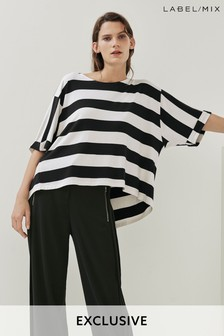 Mix/Teatum Jones Stripe Oversize T-Shirt