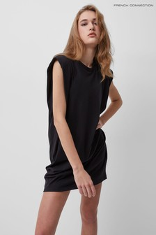 French Connection Shoulder Pad Jersey Dress
