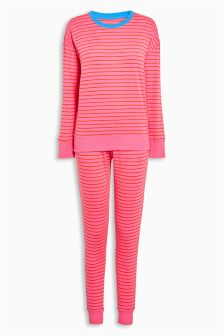Cotton Stripe Jersey Pyjamas
