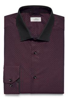Contrast Collar Slim Fit Shirt