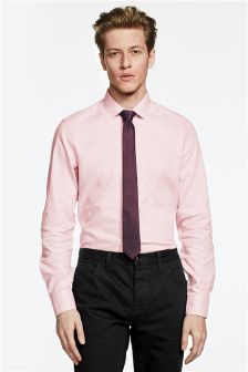 Dopasowana marglowa koszula i krawat