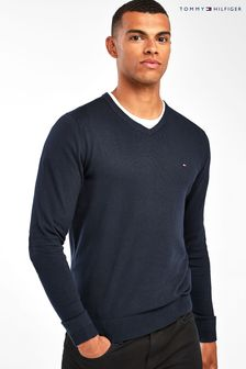 Tommy Hilfiger Core Cotton Silk V-Neck Sweater