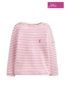 Joules Pink Harbour Stripe Jersey Top