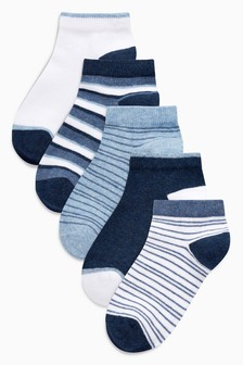 Stripe Trainer Socks Five Pack (Younger)