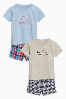 Woven Short Pyjamas Two Pack (12mths-8yrs)