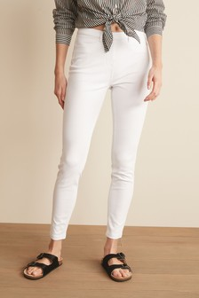 New Womens White Relaxed Skinny NEXT Jeans Size 6 Regular