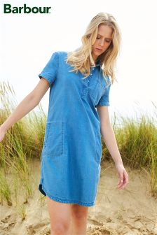 Barbour® Blue Chambray Shirt Dress