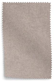Sumptuous Velour Light Mink Upholstery Fabric Sample
