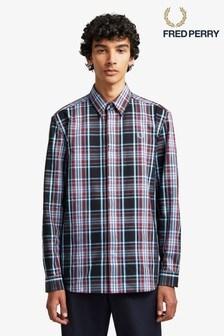 Fred Perry Burgundy Tartan Shirt