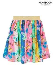 Monsoon Multi Stripe Floral Skirt
