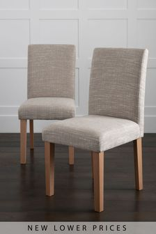 Next.co.uk & Fabric Dining Chairs | Fabric Plain \u0026 Checked Dining Chairs | Next