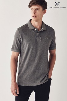 Crew Clothing Company Grey Classic Pique Polo