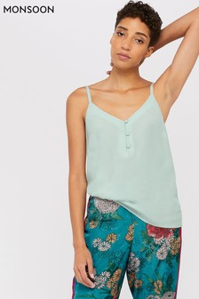 Monsoon Ladies Green Mila Button Cami