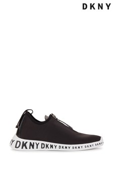 DKNY Black Melissa Logo Slip-On Trainers