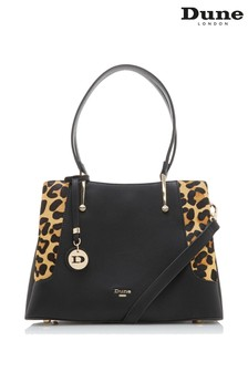 Dune London Leopard Dorriss Large Gusset Detail Tote