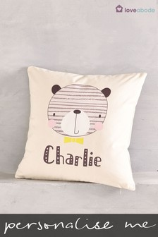 Personalised Bear Cushion by Loveabode