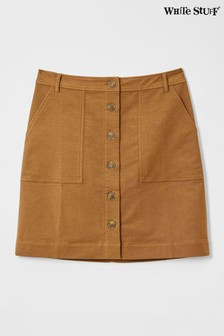 White Stuff Natural Canterbury Twill Skirt