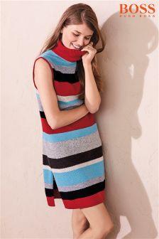 BOSS Red Multi Stripe Dress