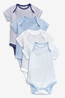 4 Pack Short Sleeve Bodysuits (0mths-3yrs)