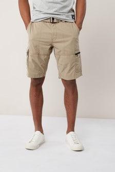 Pantaloni scurţi cargo cu curea