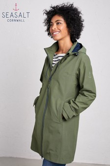 Seasalt Green Coverack Coat