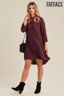 Fatface Purple Georgie Shirt Dress