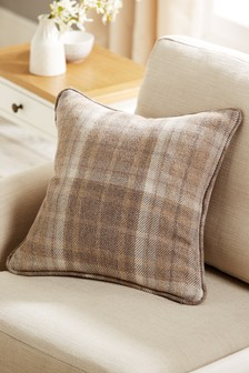 Burford Check Cushion
