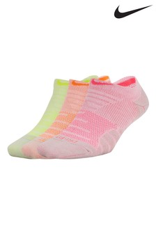 Nike Neon Trainer Socks Three Pack