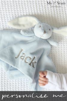 Personalised New Baby Bunny Comforter By My 1st Years