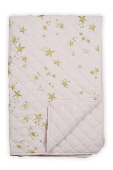 Metallic Stars Quilted Throw