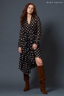 Mint Velvet Luna Star Print Midi Dress