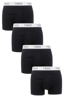 Waistband Black A-Fronts Four Pack