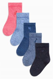 Embroidery Socks Five Pack (Younger)