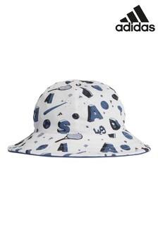 adidas Little Kids Grey Reversible Bucket Hat