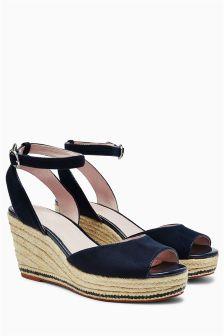Shoes For Women Leather Wedge Heel Flip Flops Open Toe FlipFlops Casual Black Leopard Beige