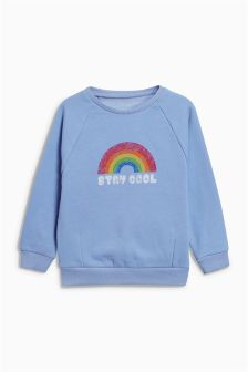 Slogan Crew Sweater (3mths-6yrs)