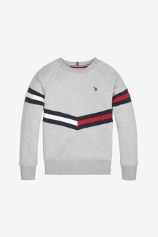 Tommy Hilfiger Boys Flag Chevron Sweatshirt