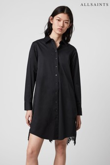 AllSaints Lace Insert Iris Shirt Dress