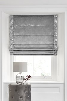 Sequin Panel Velvet Roman Blind
