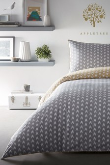 Appletree Dari Geo Piped Cotton Duvet Cover and Pillowcase Set