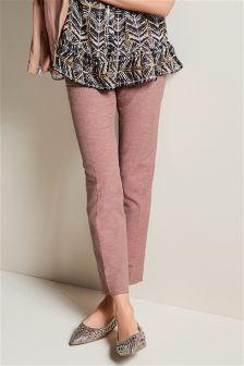 Linen Blend Slub Trousers